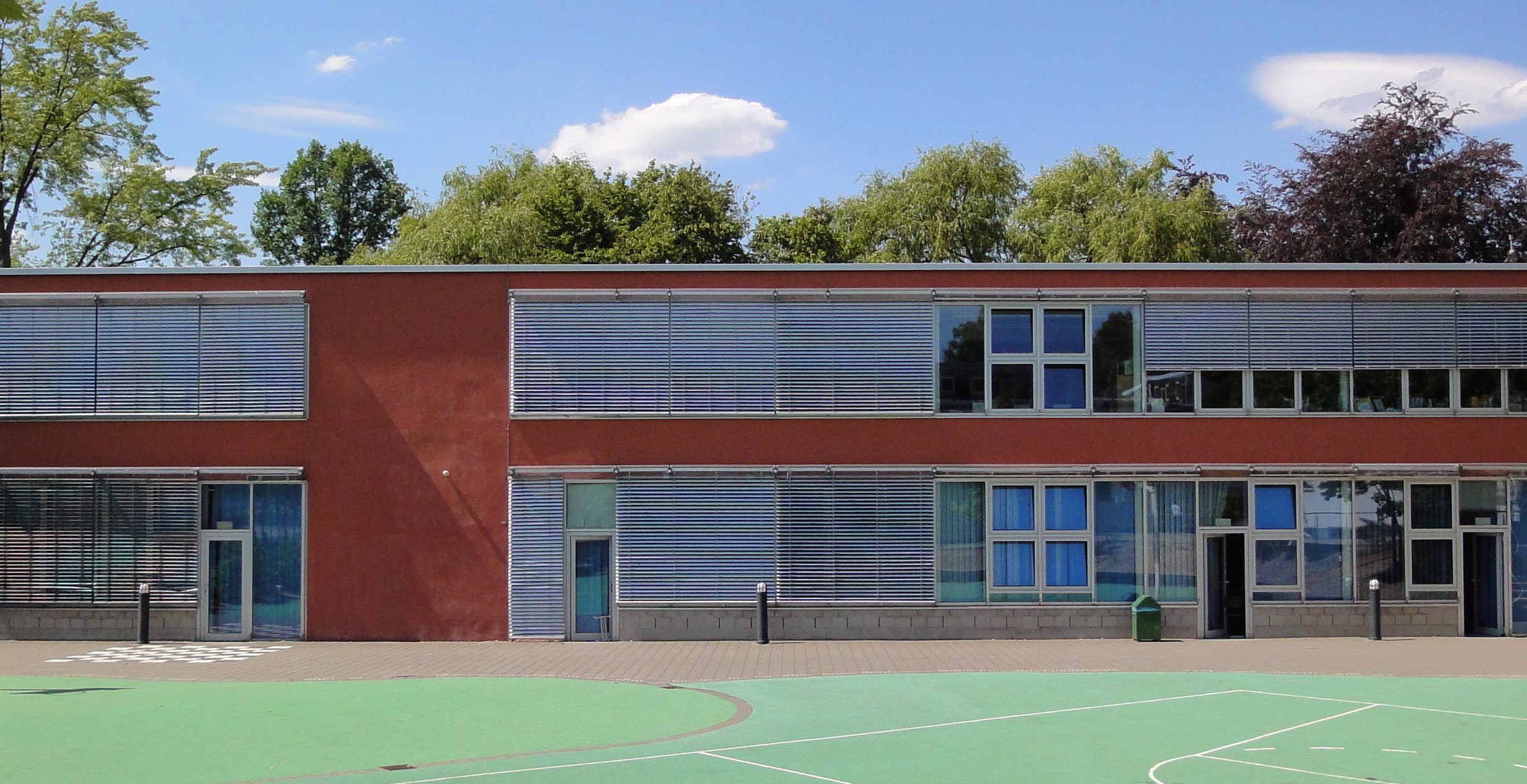 L-shaped School Building